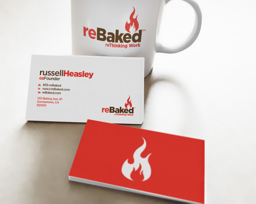 Rebaked-flame-logo-business-card-mockup